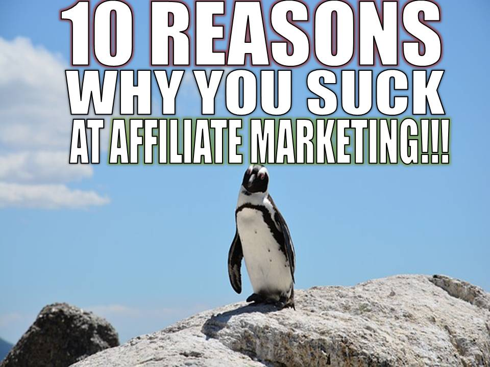 10 reasons you suck at affiliate marketing