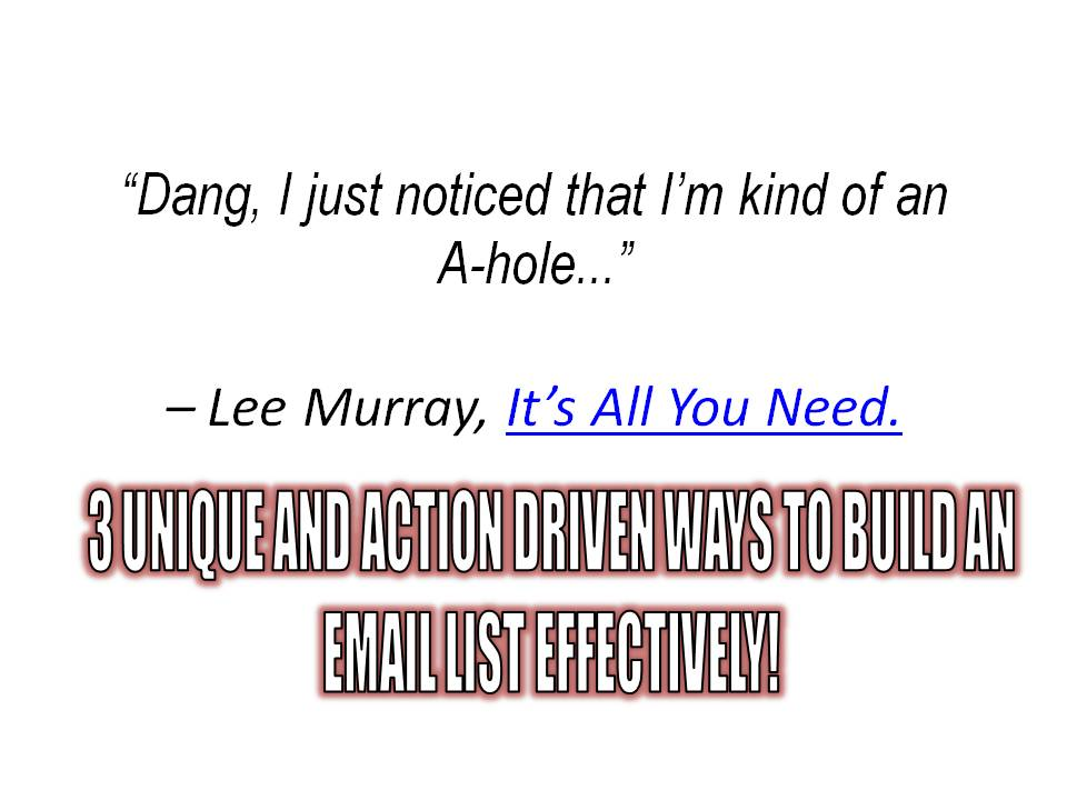 Its all you need Lee Murray review